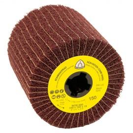 Roue à lamelles combinée texture / toile corindon NCW 600 D. 100 x 100 x 19 mm Gr 80 - 258905 - Klingspor