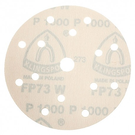 100 disques papier auto-agrippant 8 + 6 trous + 1 central PS 73 BWK D. 150 mm Gr 600 - 301862