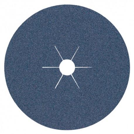 25 disques fibres zirconium CS 565 D. 125 x 22 mm Gr 24 - 97643 - Klingspor