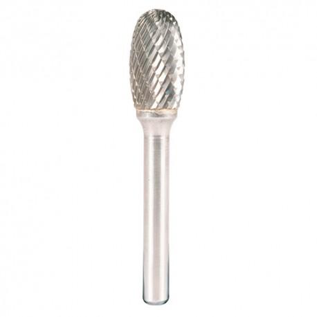 Fraise lime carbure à tête elliptique D. 12,7 x 22 x 6 mm x Denture : 6 - HF 100 E - 295925