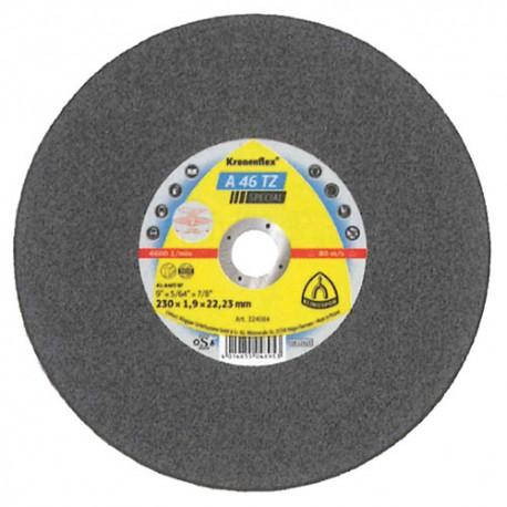 Disque à tronçonner MP SPECIAL A 46 TZ D. 230 x 1,9 x 22,23 mm - Acier inoxydable - 224084 - Klingspor