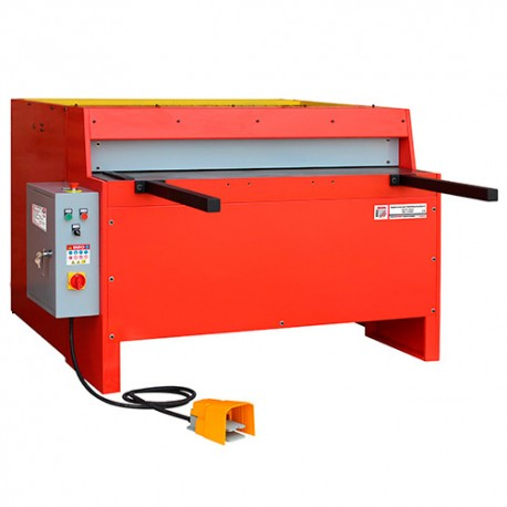 Cisaille - Guillotine à tôle d'atelier 400 V 3000 W pour coupe de feuilles 1250 x 3 mm - TBS 1250E3 HOLZMANN