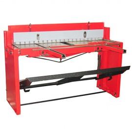 Cisaille - Guillotine à tôle d'atelier manuelle pour coupe de feuilles 1320 x 1,25 mm - TBS 1320 HOLZMANN