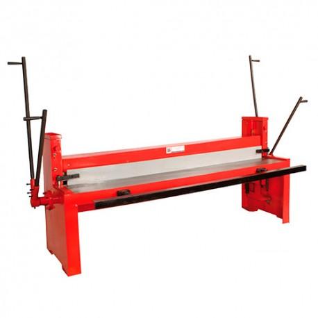 Cisaille guillotine t le d 39 atelier manuelle pour coupe de feuilles 2000 x 1 25 mm tbs 2000 - Cisaille a tole ...