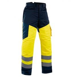 Jambière pantalon tronçonneuse haute visibilité Jaune/Marine - Taille TU - 191519003389 - Blaklader - 19151900