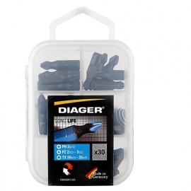 Boîte de 30 embouts de vissage L. 25 mm - 647C - Diager - Diager