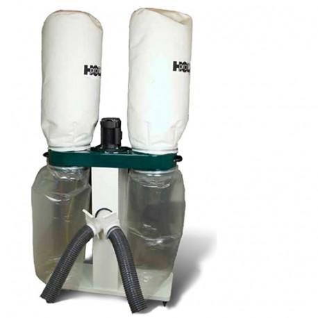 Aspirateur mobile à copeaux de bois + 2,5 m de tuyau - 1100 W 400 V - U2000DUO-TRI - Holzprofi