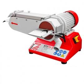 Ponceuse à bande L. 1180 x 75 mm et à disque D. 150 mm - 400 V 1800 W BTS75-2 HOLZMANN