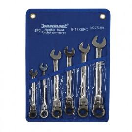 Trousse de 6 clés mixtes à cliquet à tête inclinable 8 à 17 mm - 277869