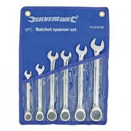 Trousse de 6 clés mixtes à cliquet à tête droite 8 à 17 mm - 633788