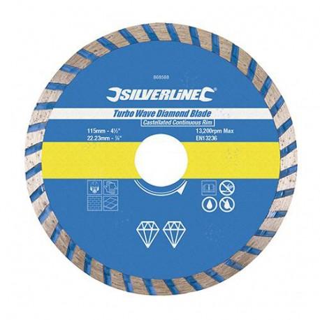 Disque diamant Turbo Wave D. 300 x 20 mm JC canelée matériaux - 675104