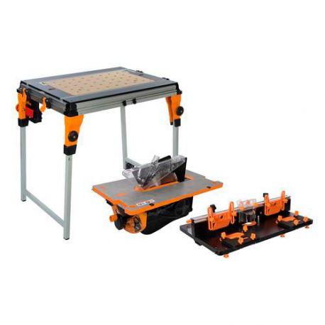 Ensemble workcentre twx7 avec modules table de d fonceuse et banc de scie twx7cs1rt1 830200 - Table de defonceuse ...