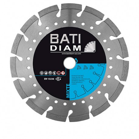 Disque diamant D. 230 x Al 22,23 x Ht 10 mm - Multi matériaux Bâtiment - BATIDIAM
