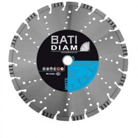Disque diamant mixte Technic TP D. 230 x Al 22,23 x Ht 12 mm - Béton armé, béton, asphalte, granit - MXT100230 - BATIDIAM