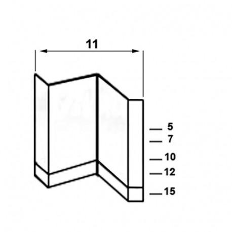 3 0000 agrafes CADRE 11-12 - 11 x 12 mm - 314T1112 - Alsafix