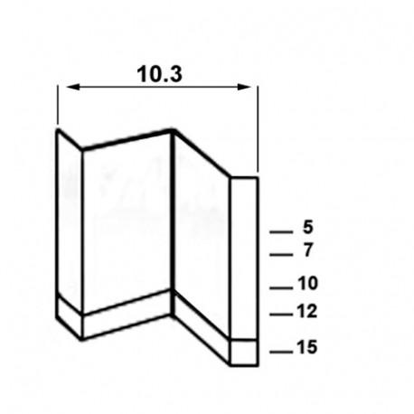2 000 agrafes CADRE 10-15 - 10,3 x 15 mm - 314TU15 - Alsafix