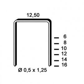 5 000 agrafes galvanisées D-10 - 12,5 x 10 x D. 0,5 x 1,25 mm - 6D-101 - Alsafix