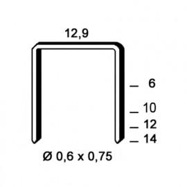 9 000 agrafes galvanisées PM-10 - 12,9 x 10 x D. 0,6 x 0,75 mm - 6PM101 - Alsafix