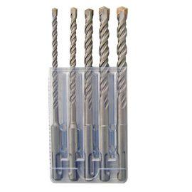 Coffret de 5 forets béton 2 Taillants SDS+ D. 5, 6, 8, 10, 12 x LT. 160 mm - FORETS5B - Alsafix