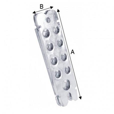Connecteur invisible RICON 100/40 EA (L x l) 100 x 40 mm - AL-137K362 - Alsafix