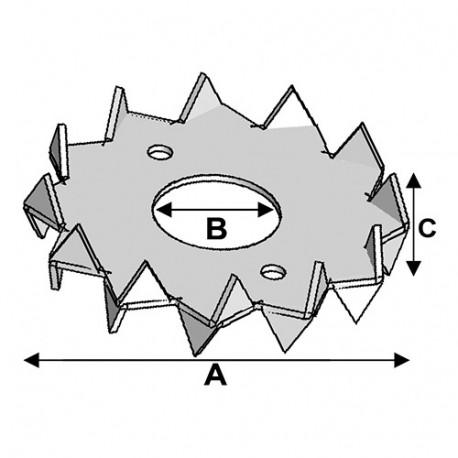 Crampon type C double face D. 62 x 21 x Ht. 16,5 x ép. 1,2 mm - AL-CD6221 - Alsafix