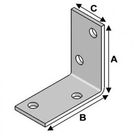 Equerre sans renfort (H x L x l x ép) 40 x 40 x 20 x 2,0 mm - AL-EA04040220 - Alsafix