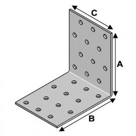 Equerre sans renfort (H x L x l x ép) 40 x 40 x 60 x 2,0 mm - AL-EA04040620 - Alsafix