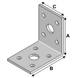 Equerre sans renfort (H x L x l x ép) 50 x 50 x 35 x 2,5 mm - AL-EA05050325 - Alsafix