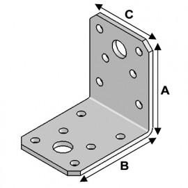 Equerre sans renfort (H x L x l x ép) 60 x 60 x 45 x 3,0 mm - AL-EA06060430 - Alsafix