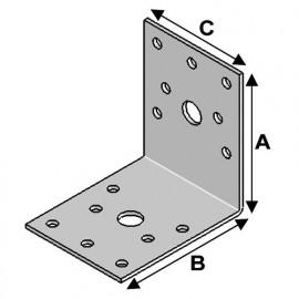 Equerre sans renfort (H x L x l x ép) 70 x 70 x 55 x 2,5 mm - AL-EA07070525 - Alsafix