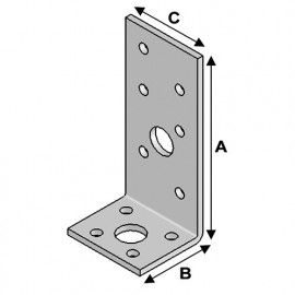 Equerre sans renfort (H x L x l x ép) 90 x 35 x 40 x 3,0 mm - AL-EA09030430 - Alsafix