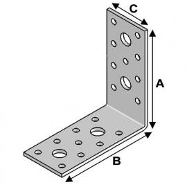 Equerre sans renfort (H x L x l x ép) 90 x 90 x 40 x 3,0 mm - AL-EA09090430 - Alsafix