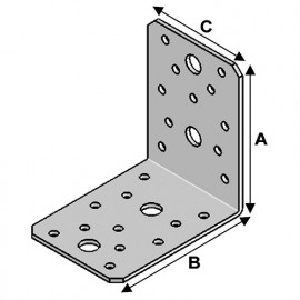 Equerre sans renfort (H x L x l x ép) 90 x 90 x 65 x 2,5 mm - AL-EA09090625 - Alsafix