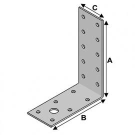 Equerre sans renfort (H x L x l x ép) 115 x 90 x 40 x 3,0 mm - AL-EA11090430 - Alsafix