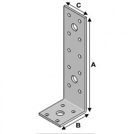 Equerre sans renfort (H x L x l x ép) 155 x 50 x 40 x 3,0 mm - AL-EA15050430 - Alsafix