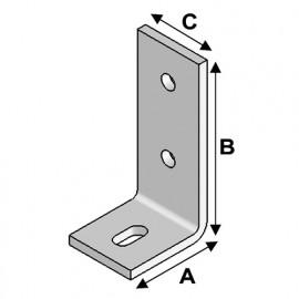 Equerre béton (L x H x l x ép) 75 x 75 x 60 x 6,0 mm - AL-EB07070660 - Alsafix