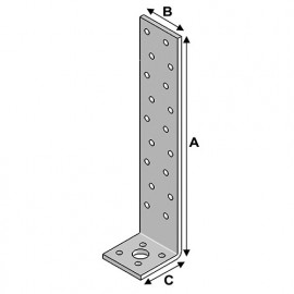 Equerre béton (H x L x l x ép) 300 x 40 x 40 x 2,0 mm - AL-EB30040420 - Alsafix