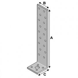 Equerre béton (H x L x l x ép) 400 x 40 x 40 x 2,0 mm - AL-EB40040420 - Alsafix