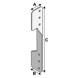Ancre de panne universelle Gauche égale Droite (LxlxHxép) 35x35x180x2,0 mm - AL-AP03031820 - Alsafix