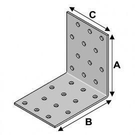 Equerre perforée (H x L x l x ép) 60 x 60 x 100 x 2,0 mm - AL-EP06061020 - Alsafix