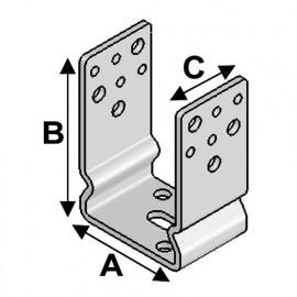 Embase de poteau à boulonner type EPU-71 (A x B x C x ép) 71 x 125 x 60 x 5,0 mm - AL-EPU71 - Alsafix