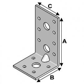 Equerre avec renforts (H x L x l x ép) 90 x 50 x 48 x 3,0 mm - AL-ER09050530 - Alsafix