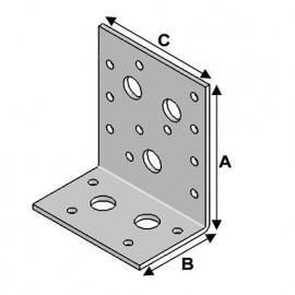 Equerre avec renforts (H x L x l x ép) 90 x 50 x 76 x 3,0 mm - AL-ER09050830 - Alsafix
