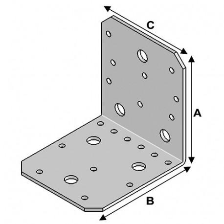 Equerre INOX avec renfort (H x L x l x ép) 105 x 105 x 90 x 2,5 mm - AL-ER10100929 - Alsafix