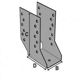 Sabot cantilever (P x l x H x ép) 80 x 80 x 210 x 2,0 mm - AL-SC080210 - Alsafix