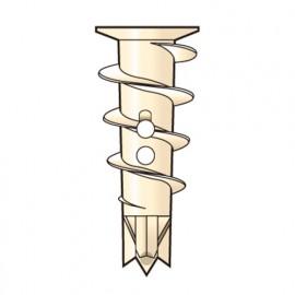100 chevilles Zip-It Nylon L. 25 mm avec vis - PO02377 - Alsafix