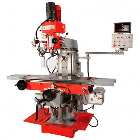Fraiseuse verticale métal inclinable et horizontale numérique D. 50 mm 400 V 2200 W - BF 1000DDRO HOLZMANN