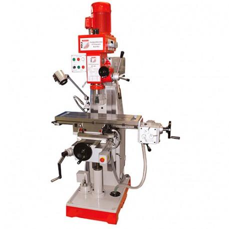 Fraiseuse verticale métal inclinable D.50 mm moteur 2 vitesses 400 V 1400 W et 800 W - BF 500 HOLZMANN