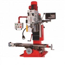 Fraiseuse verticale métal inclinable affichage digital D. 45 mm 2 vitesses 400 V 1100 et 850 W - BF 50DIG HOLZMANN