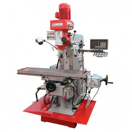 Fraiseuse verticale métal inclinable et horizontale numérique D. 25 mm 2 vitesses 400 V 1400, 900 et 2200 W - BF 600D HOLZMANN